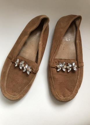 Туфли замш бежевые