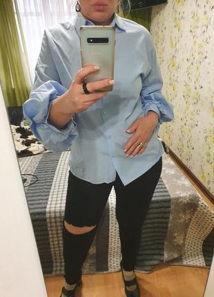 Стильная рубашка с пышными рукавами pinza