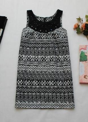 Короткое летнее платье сарафан в орнамент dorothy perkins