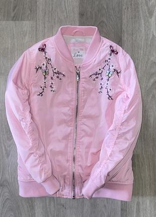 Классная куртка ветровка бомбер на девочку 2-3 года