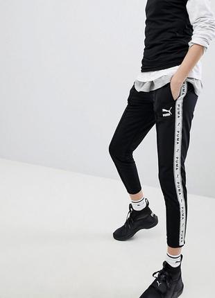 🖤 чёрные спортивные брюки/штаны с лампасами по бокам puma - эксклюзив!