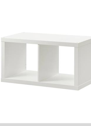 Стеллаж, белый, 77x42 см