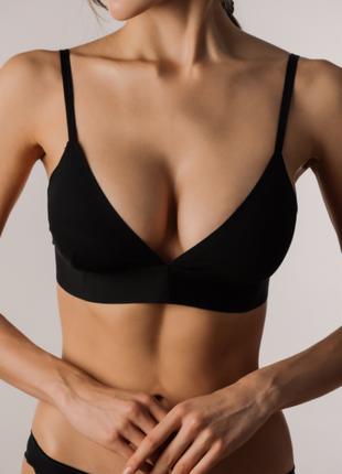 Бюстгальтер чёрный бесшовный 70с, 70b, 75b, 75a luna lingerie