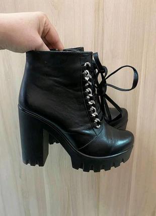 Деми ботинки,ботіночки.натур.кожа