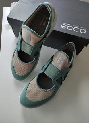 40 ecco кроссовки слипоны сникерсы кросівки сліпони жіночі