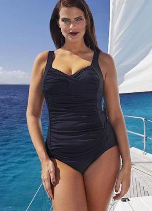 Шик! черный купальние скрывающий недостатки bonprix. размер 54-56.