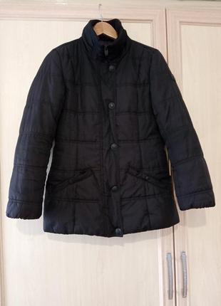 Распродажа классная куртка демисезонная черная  на синтепоне оригинал tom tailor