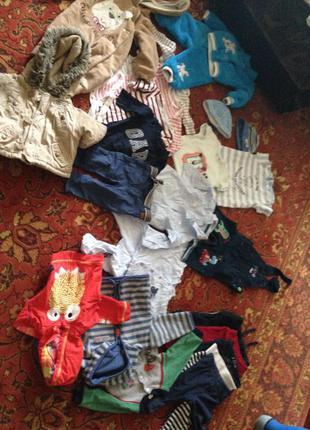 Пакет детских вещей бодик штаны рубашка капюшонка