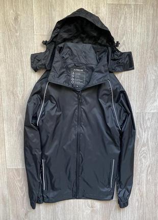 Atrium дождевик м размер чёрные ветровка куртка