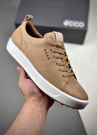 Мужские кожаные кроссовки ecco golf soft 151304