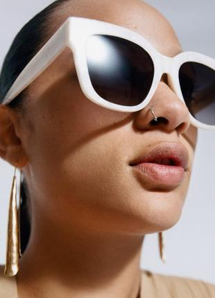 Тренд 2021! очки в белой оправе!