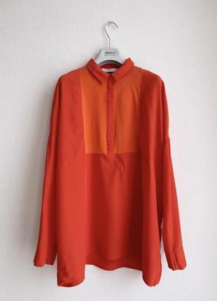 Блуза numph с шелковой вставкой