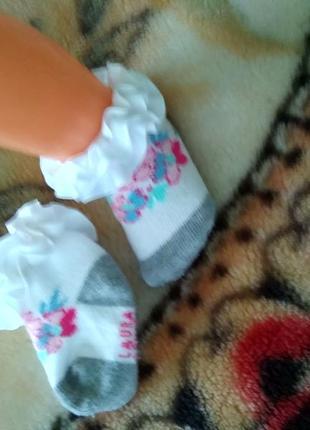 Носочки для малышки от 3-6мес