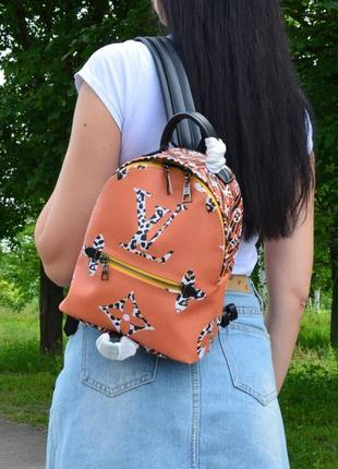 Стильный оранжевый рюкзак женский