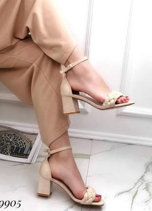 💥 шикарные кожаные босоножки с плетеной лямкой