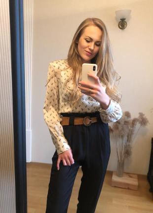 Блуза zara атласная, в цветочек