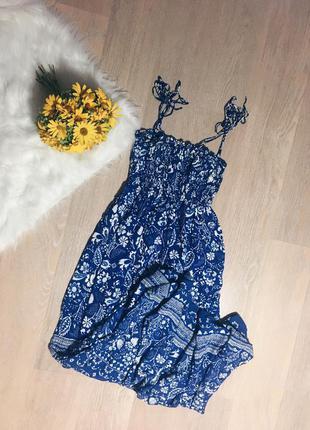 Длинный сарафан платье в орнамент узор oysho