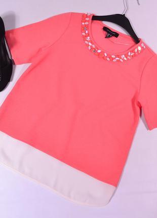 Комбинированная блуза с декором atmosphere