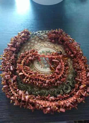 Комплект украшений из натуральных камней