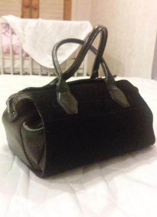 Шикарная сумка натуральная кожа очень красивая цвет тёмный марсала