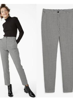 Стильные брюки штаны в клетку/гусиную лапку zara/актуальная модель