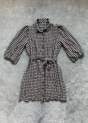 Платье рубашка george в клетку
