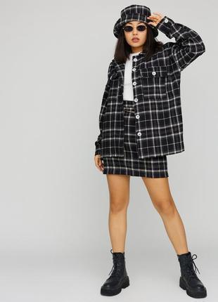 Костюм куртка и юбка из кашемира 2021