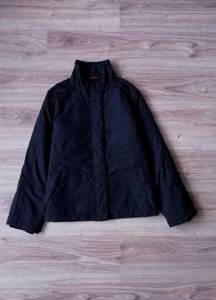 Черная спортивная куртка kappa чорна спортивна курточка ветровка