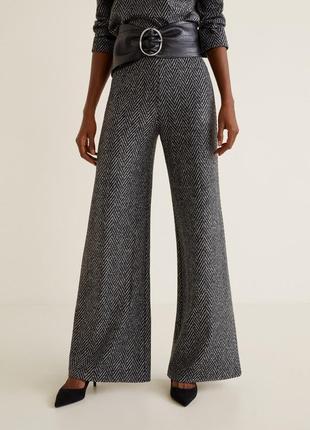 Шерстяные брюки mango, размер s