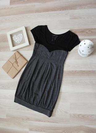 Стильное классическое платье с коротким рукавом