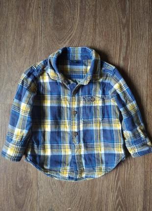 ❤️тепленькая рубашка gap 18-24