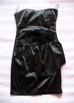 Маленькое черное атласное платье rise