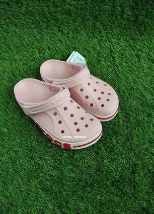Crocs bayaband clog candy pink/pearl кроксы баябэнды