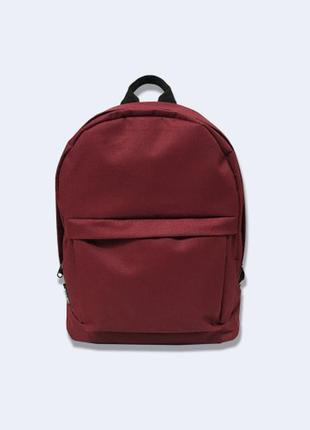 Мини рюкзак бордовый