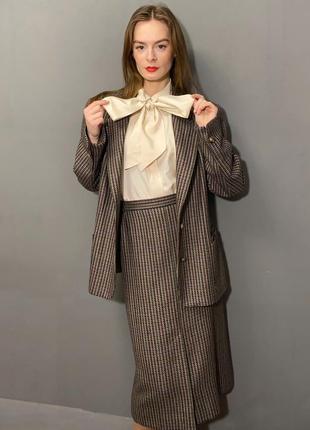 Винтажный костюм гусиная лапка 100% шерсти германия