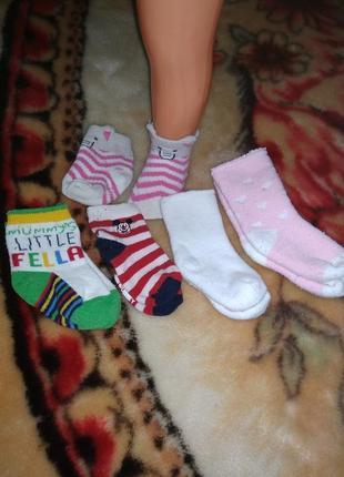 Носочки для малышки от 2-6 мес
