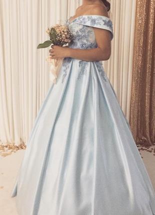 Выпускное ,вечернее платье нежно-голубого цвета