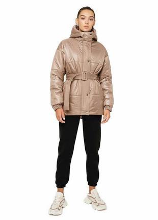 Демисезонная куртка,курточка,оверсайз,с поясом,m,l,xl,2xl,3xl,4xl