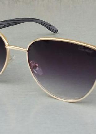 Cartier очки женские кошечки черные с градиентом в золоте