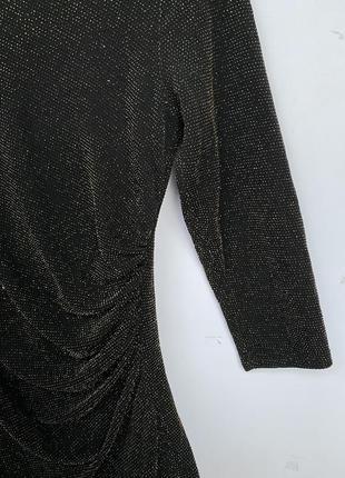 Черное облегающее мини платье в блестках new look3 фото