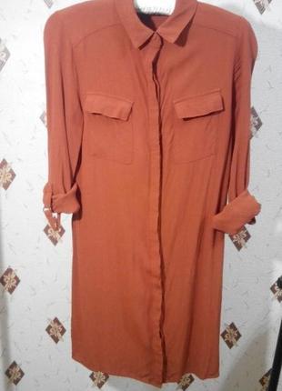Платье рубашка из вискозы