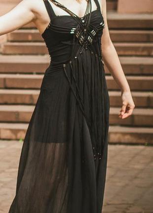 Вечерний комбинезон. черное платье, комбез платье. необычный комбез. выпускное платье