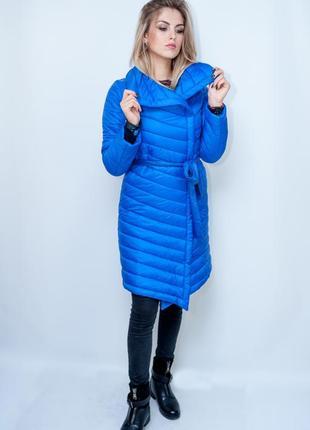 Женская куртка демисезонная punky klan. цвет электрик