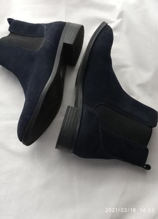Легкие  ботинки из натуральной замши