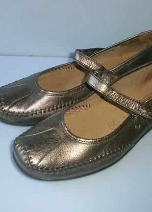 3062 туфли gabor uk7g/eu41-40 кожа