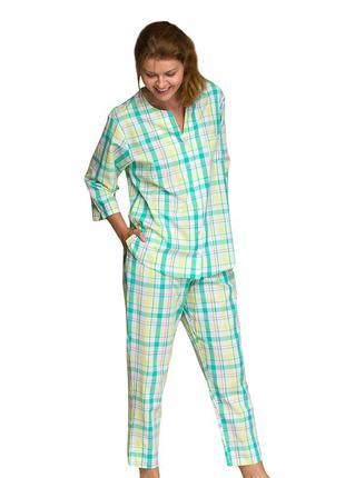 Женский домашний комплект из вискозы рубашка и штаны key lns 453 2 a211 фото