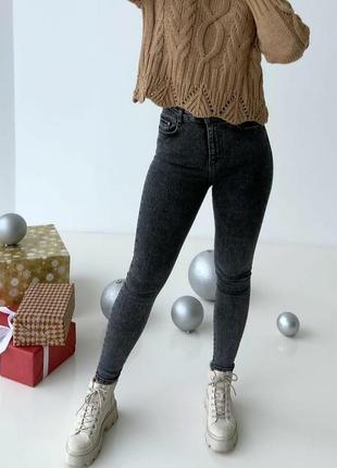 Новые!!!серые черные джинсы 25 размер скини американка узкие высокая посадка американка