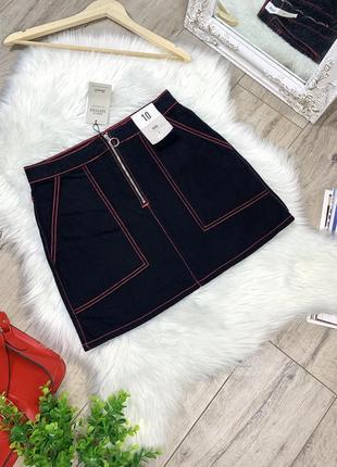 Джинсовая мини юбка с биркой