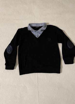 Джемпер, пуловер с воротничком школьный