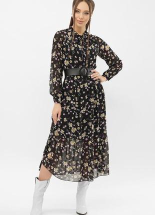 Стильное платье - принт (расцветки)1 фото